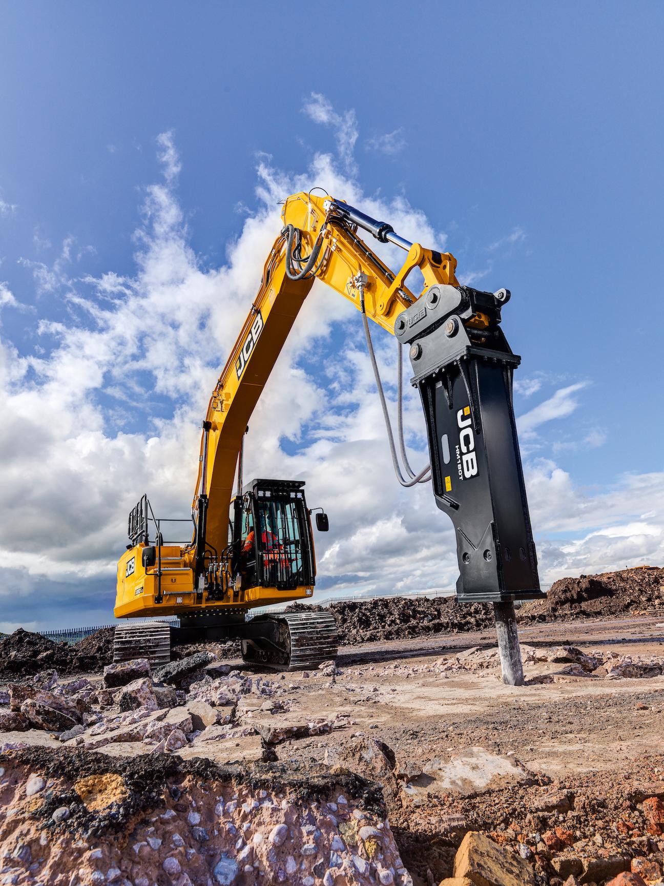 JCB 220X excavator hydraulic hammer