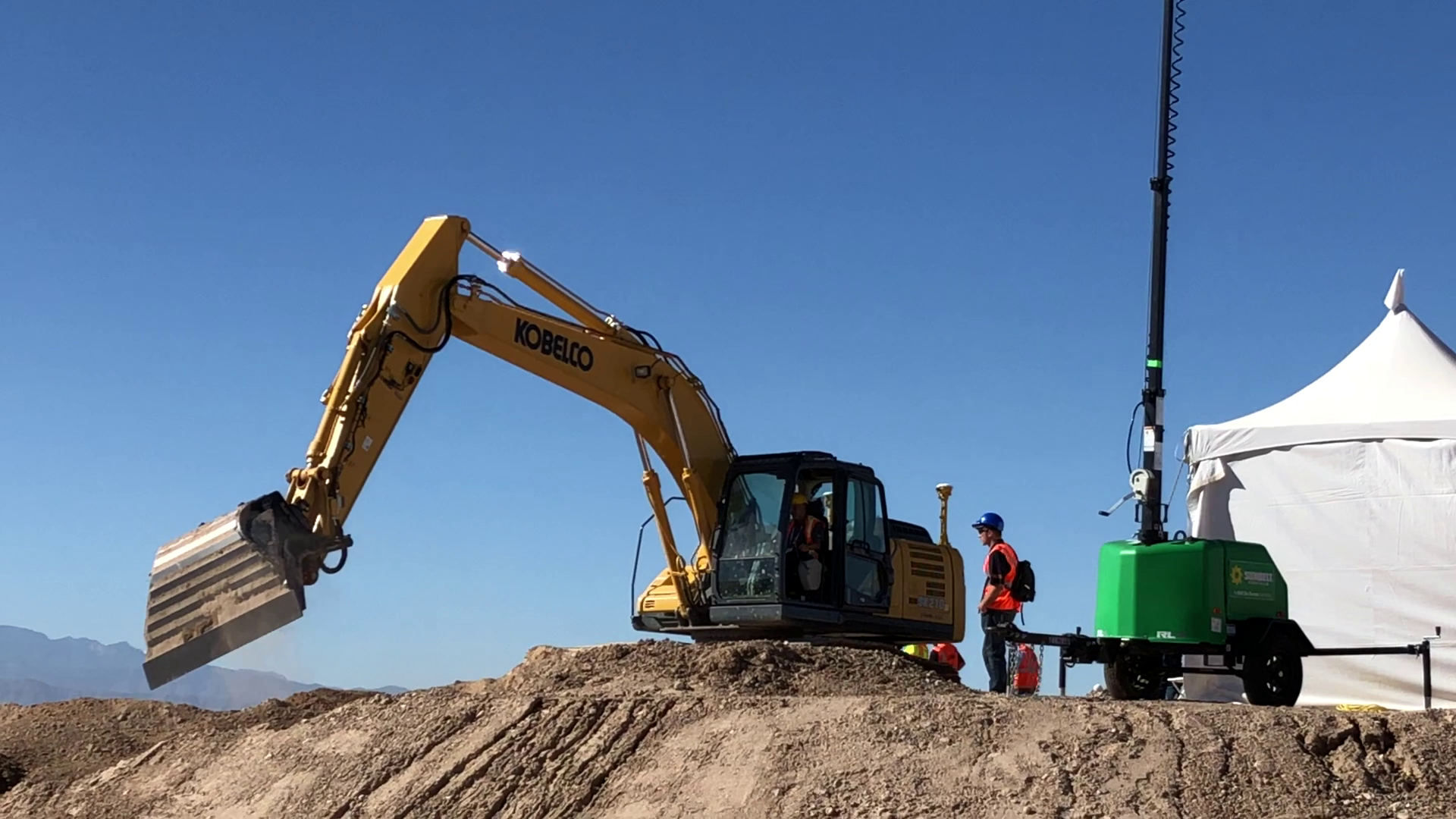 Kobelco SK210 excavator