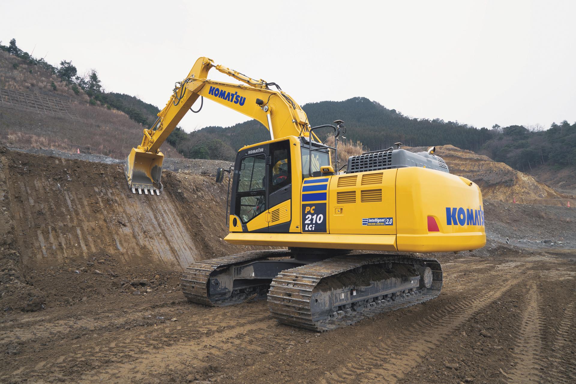 Komatsu PC210LC excavator
