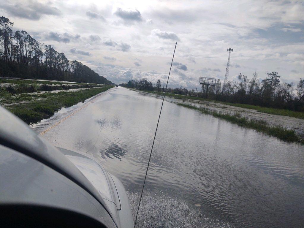 Hurricane Ida flooding I-10 Louisiana